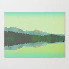 Lake Morning - Green Canvas Print