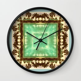 sacred waters: (palm isles 23) Wall Clock