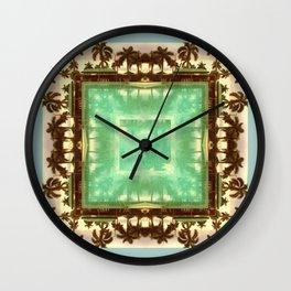 sacred waters: (palm isles 23) Wall Clock