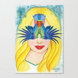 Paradis Bird Canvas Print