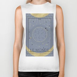 The World or Le Monde Tarot Biker Tank