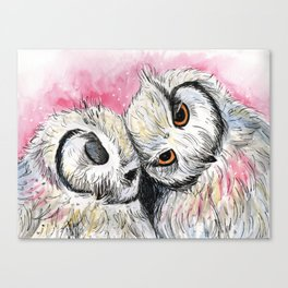 owl snuggles Canvas Print
