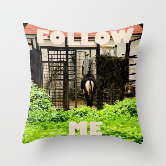 Follow me! Throw Pillow