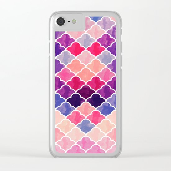 Watercolor Lovely Pattern VVXII Clear iPhone Case