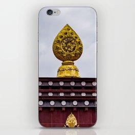 Dharma wheel - Tibetan Monastery iPhone Skin