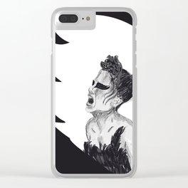 Black Swan III Clear iPhone Case