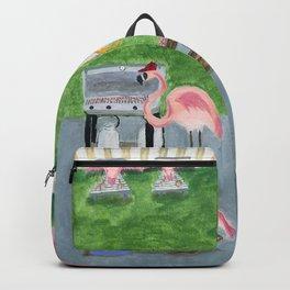 Yard Flamingo BBQ Backpack