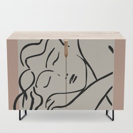 Henri matisse sleeping woman, matisse cut outs, cream and pink Credenza