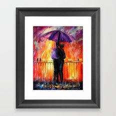 Rain for lovers Framed Art Print