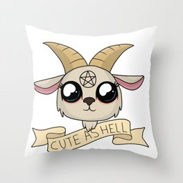 Cute as Hell Throw Pillow