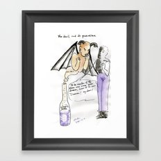 The devil and its guardian Framed Art Print