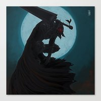 berserk Canvas Prints featuring Berserk Armor by Yvan Quinet