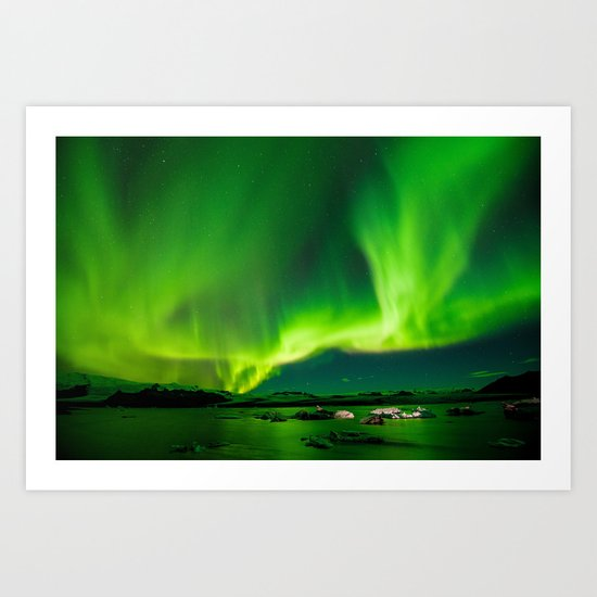 Iceland Northern Lights Art Print