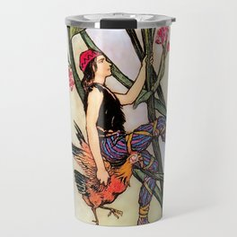"""""""Jack and the Beanstalk"""" by Warwick Goble Travel Mug"""
