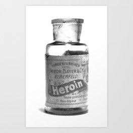 Vintage Heroin Medicine Bottle Art Print