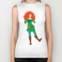 merida Biker Tanks featuring Merida by Eva Duplan Illustrations