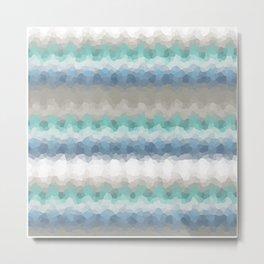 "Abstract pattern "" Blue crush ""  . Metal Print"