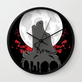 Howl at the Moon (Awoo) Wall Clock
