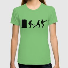 The Tardis of Silly Walks Womens Fitted Tee MEDIUM Grass
