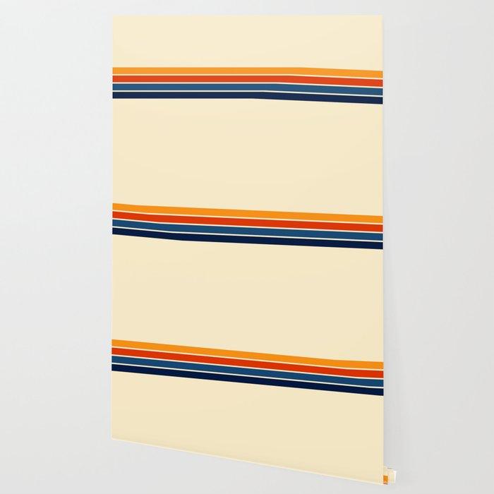 Classic Retro Stripes Wallpaper