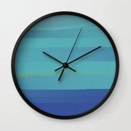 Impressions in Teal and Blue Wall Clock