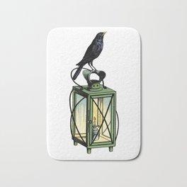 Crow On The Lantern Bath Mat