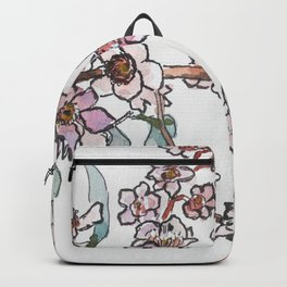 Watercolor pink flowers Backpack
