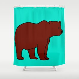 The Incredible Bear Shower Curtain