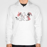 okami Hoodies featuring Painting with Okami by Miski