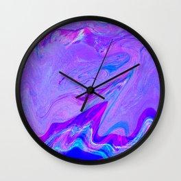 #2984 (purple pink wave glitch) Wall Clock