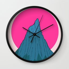 The lonely morning Peak Wall Clock