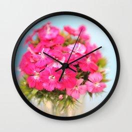 A Pink Kiss - Glowing Flowers #1 #decor #art #society6 Wall Clock
