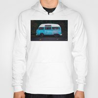 vw bus Hoodies featuring Vintage VW Bus Rusted  by Limitless Design