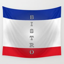 Tricolore Bistro Wall Tapestry