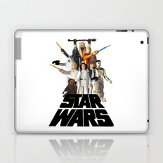 Star War Action Figures Poster Laptop & iPad Skin