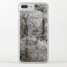 Snow Dusted Trees, No. 2 Clear iPhone Case