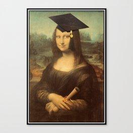 Mona Lisa Graduate Canvas Print