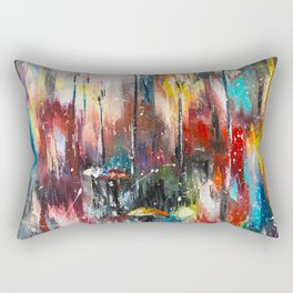 Rainy London Rectangular Pillow