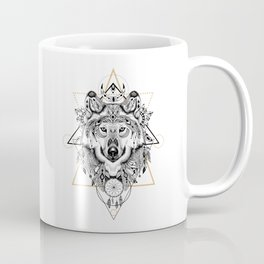 Into the wild - Wofl in aztec style Coffee Mug