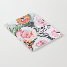 Boho pink and orange floral bouquet Notebook