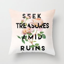Seek Treasure Throw Pillow