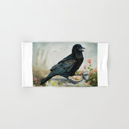 Breakfast With the Raven Hand & Bath Towel