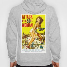 Attack of the 50 Foot Woman, 1958 (Enhanced Colors) Hoody
