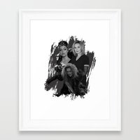 jessica lange Framed Art Prints featuring The Witches - Susan Sarandon, Jessica Lange and Meryl Streep by BeeJL