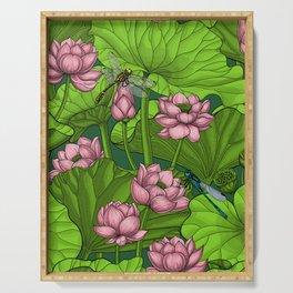 Lotus garden Serving Tray