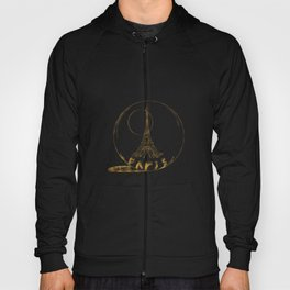 Golden Paris . Eiffel tower . illustration Hoody