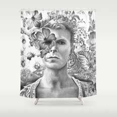 Bowie Goodbye For now Shower Curtain