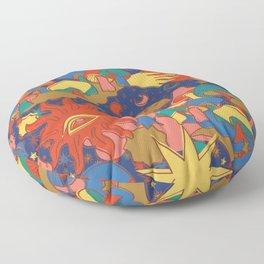 Celestial Mushroom Dream Floor Pillow