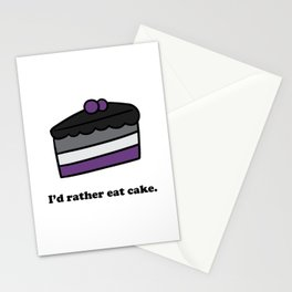 I'd Rather Eat Cake Stationery Cards