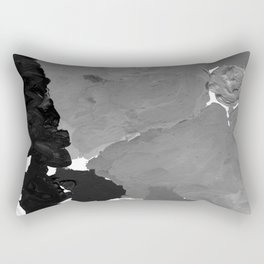 Xelli - abstract black and white minimal modern painting home decor dorm college canvas painting Rectangular Pillow